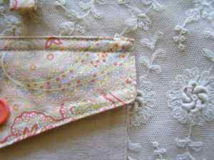 Back Pocket and Lace Skirt Panel Detail