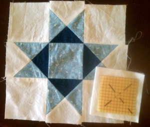 quilt top and square