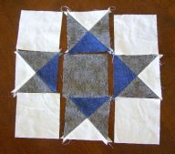 Lay out squares in pattern.