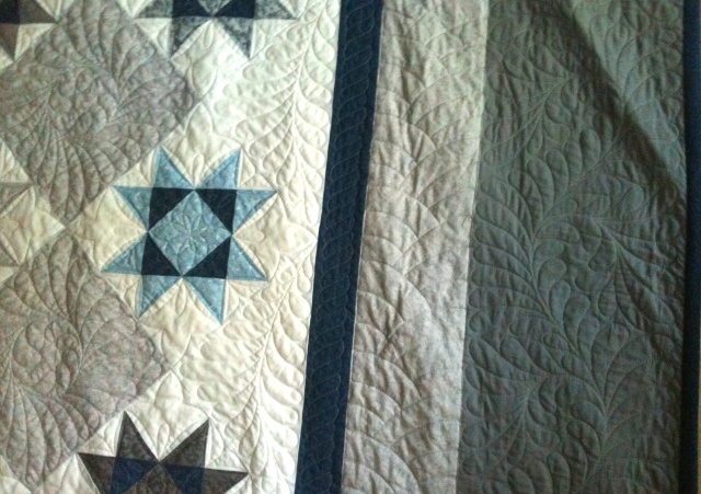 Wedding Quilt Detail - Stars and Borders