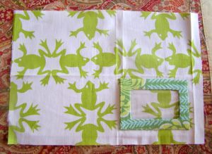 Photo 9:  Place frame on right side of fabric.