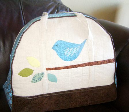 Appliqued Overnight Bag