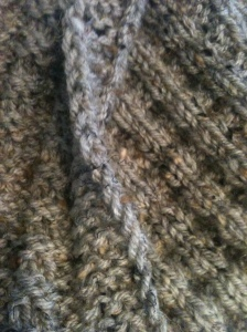 Back, Front and Border of Waffle Scarf