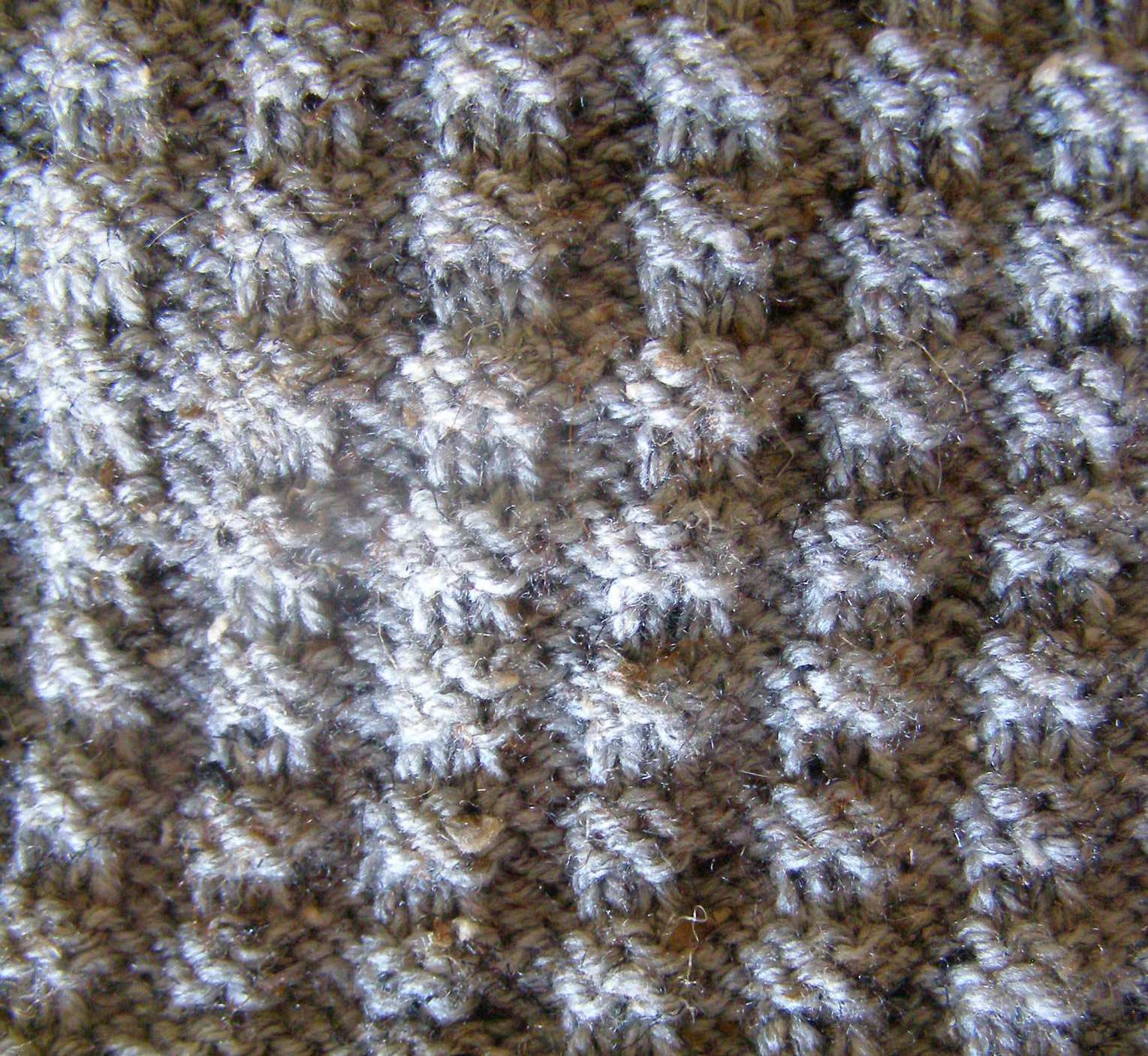 Waffle Scarf: Stash Couture from Simple Knitting Stitches The Destashificat...