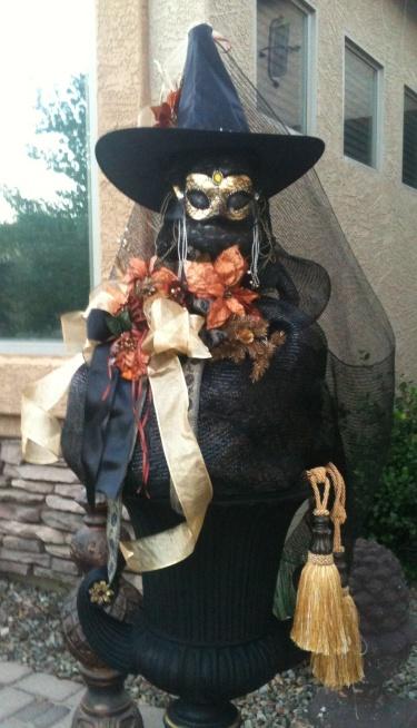Witch in a Cauldron - Destashification Halloween Decor