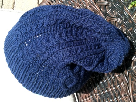 Blue Cabled Hat