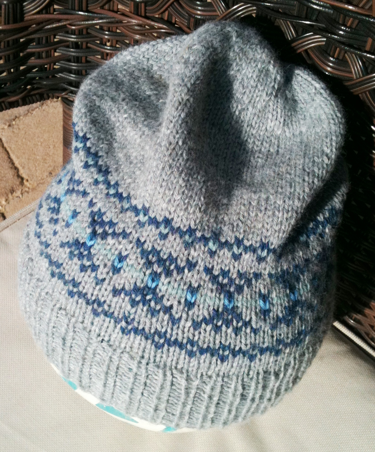 The Destashification Fair Isle Slouch Hat | The Destashification Project