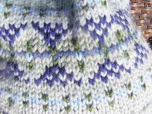 Fair Isle Slouch Hat with 3 Color Carries