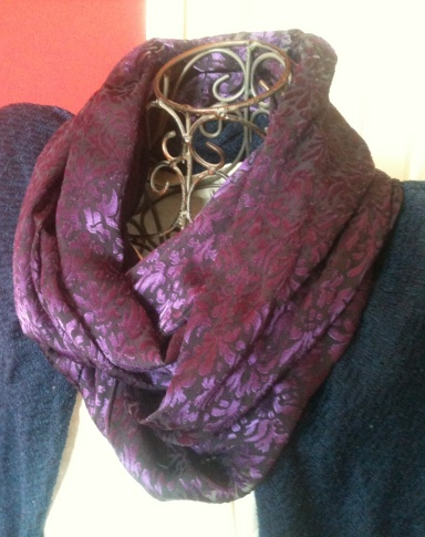 Purple Burnout DD Infinity Scarf
