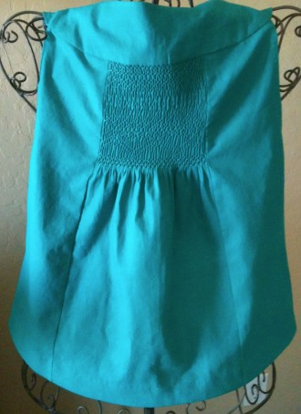 Teal LInen Top Back View