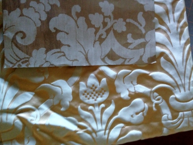 Wallpaper and Stash Silk Damask