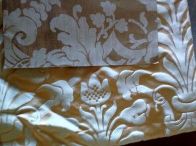 Wallpaper and Stash Silk Damask