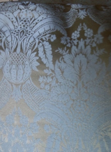 Blue and gold damask