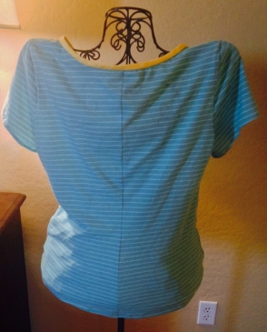 Shaped Back Seam - with matched stripes!