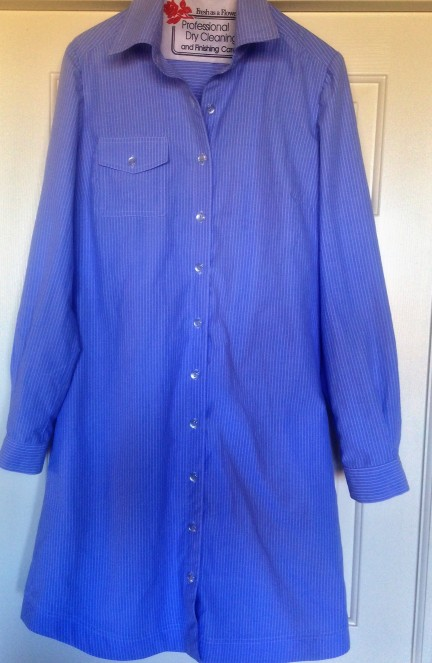 Completed shirtdress