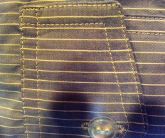 Topstitching and buttonhole