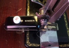 Singer buttonhole attachment at the ready!