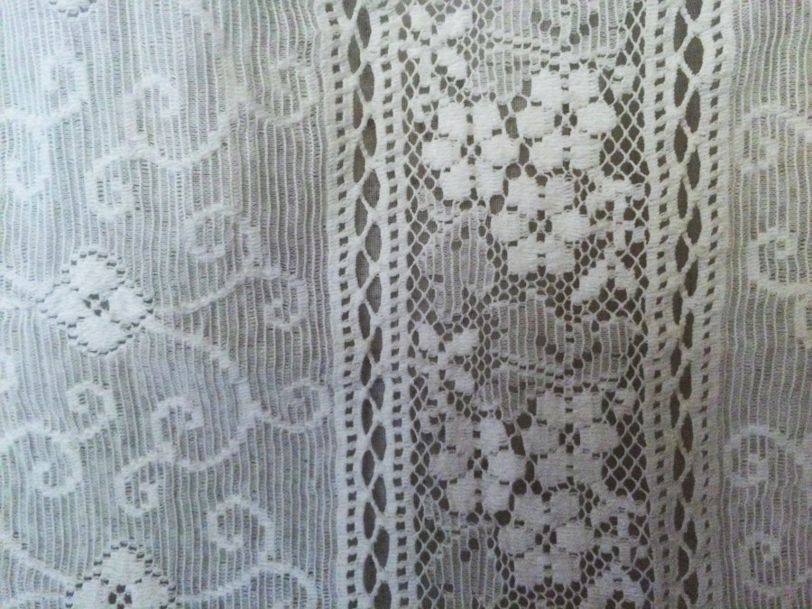 Vintage white lace after washing